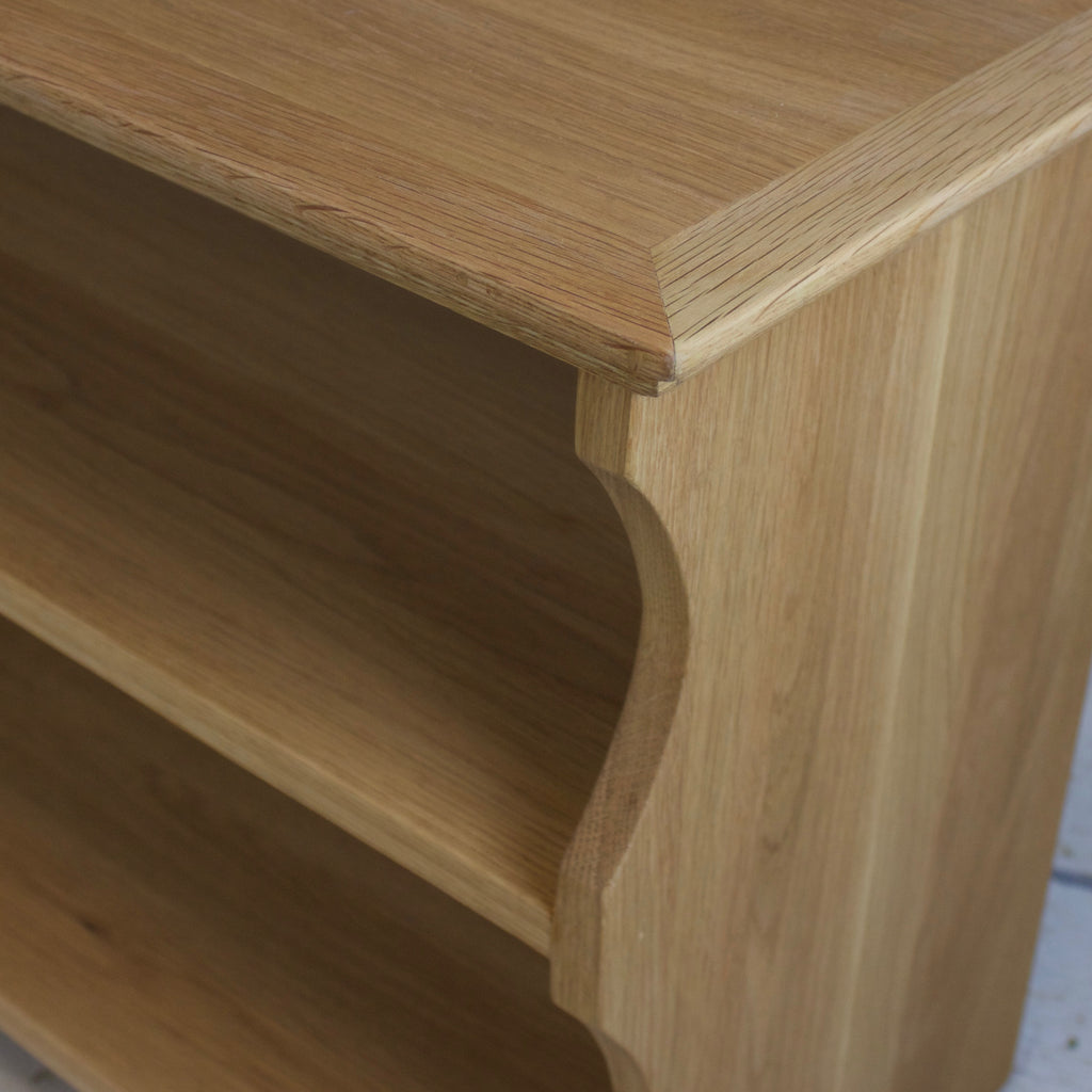 Solid Oak Shoe Bench