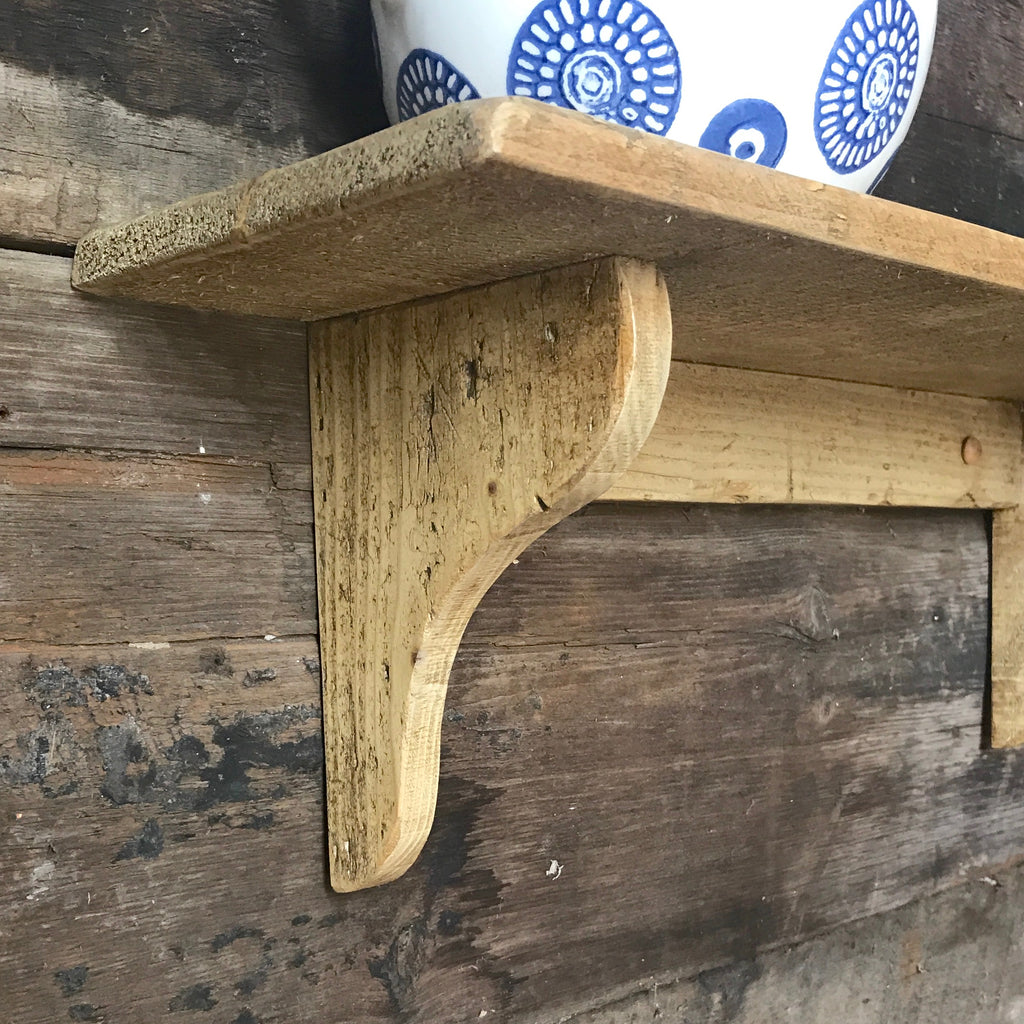 "Reclaimed Single Wall Shelf - 6"" Deep - Old Pine"