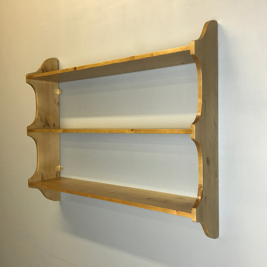 "3 Tier Deep Wall Shelf - 9"" (23cm) Deep - Cutaway sides"