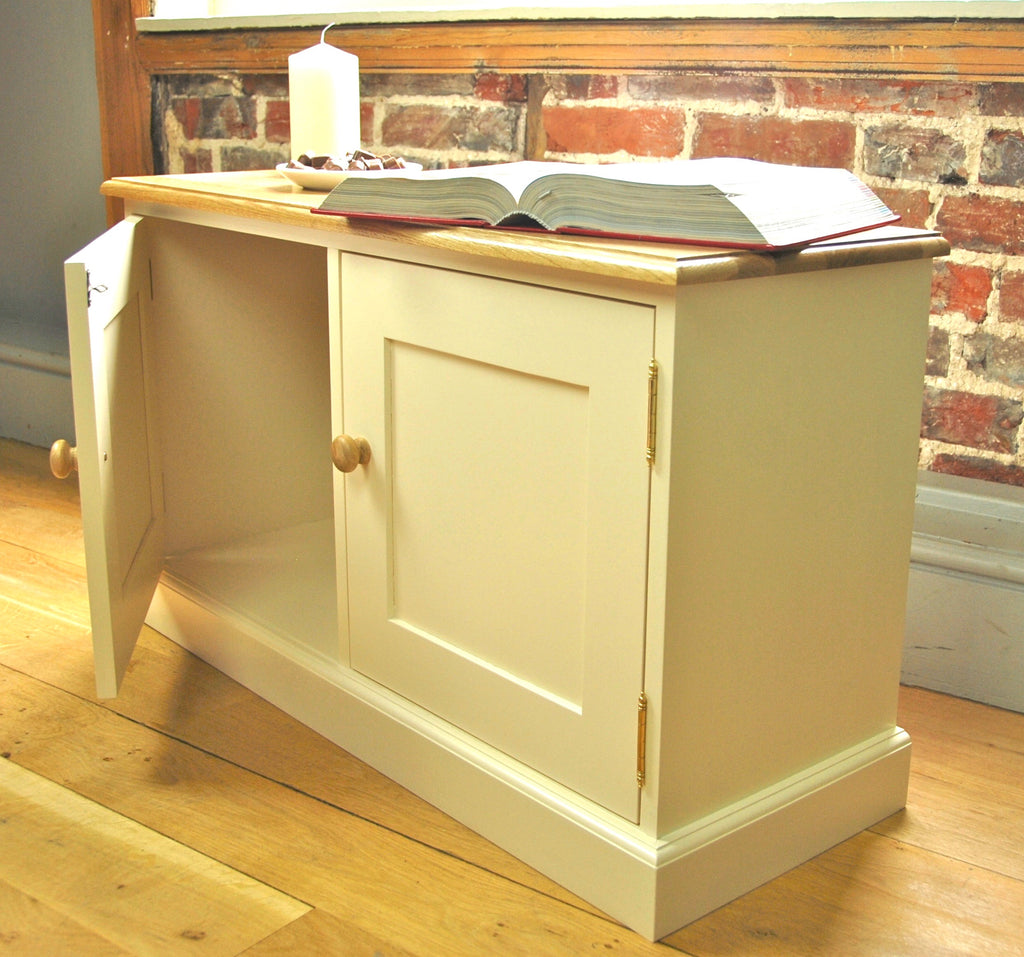 Pindars 2 Door Low Cupboard with an Oak Top
