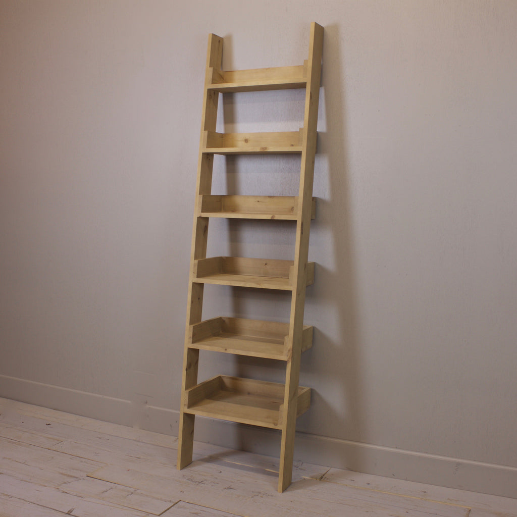 Ladder Bookcase - Natural Old Pine