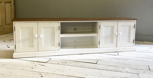 Pindars Media Cupboard Unit with an Oak Top and Pine Base