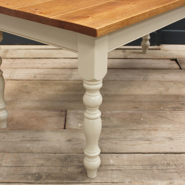 Rustic Plank Top Farmhouse Table