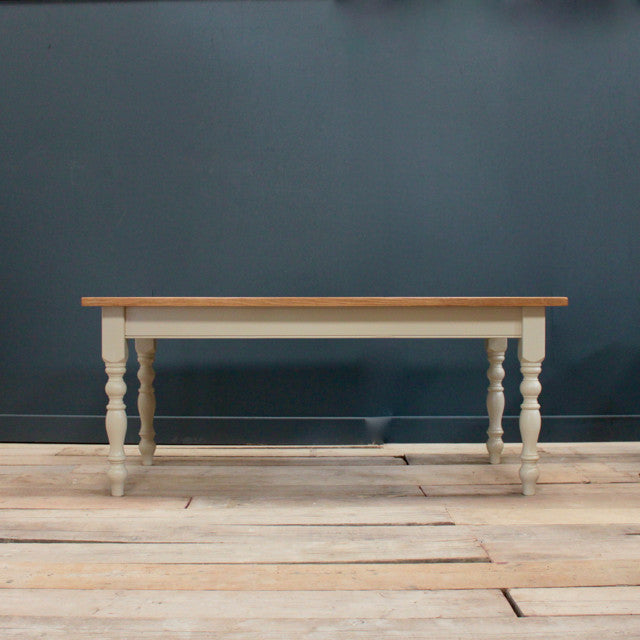Farmhouse Table with a Rustic Plank Top
