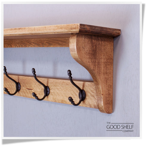 The Deep Shelf Salvaged Hat & Coat Rack