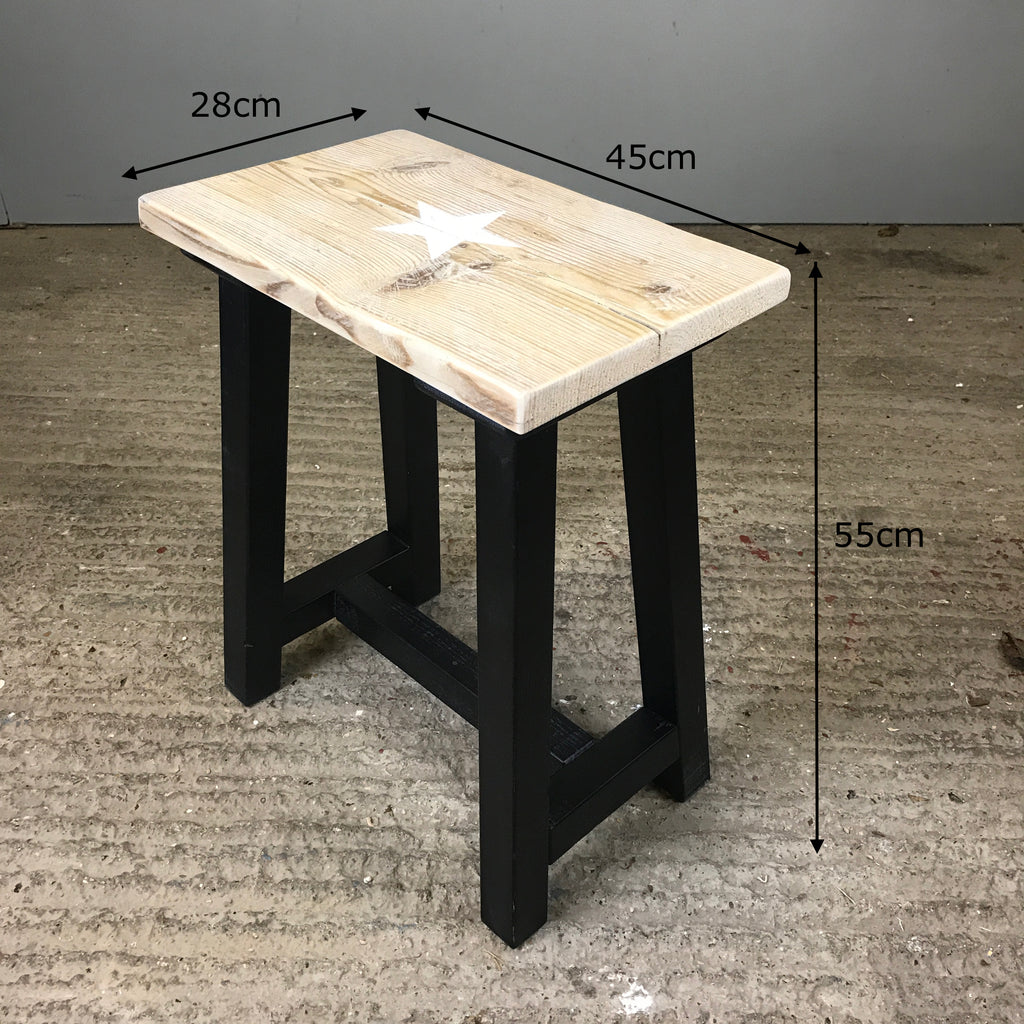 Star Stool with Trestle Legs
