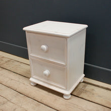 Victorian 2 drawer Bedside Chest