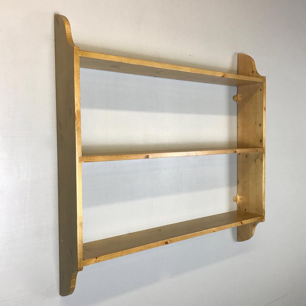 "3 Tier Pine Wall Shelf 6"" Deep"