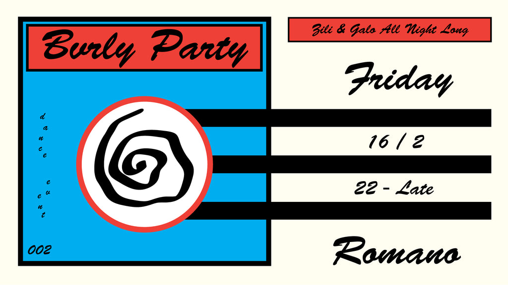 BVRLY PARTY 002 ! AT ROMANO. FRIDAY 16.2