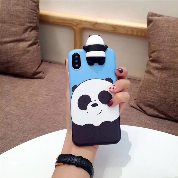 sneakers for cheap c48d6 ad7e9 Cute 3D We Bare Bears iphone X Case