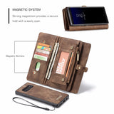 Zipper Wallet Magnetic Cover Genuine Leather Case