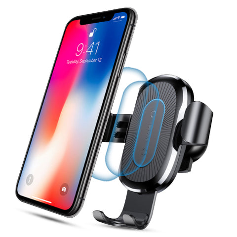 Qi Wireless Charger Gravity Car Mount Holder - Charger - Youngerfan