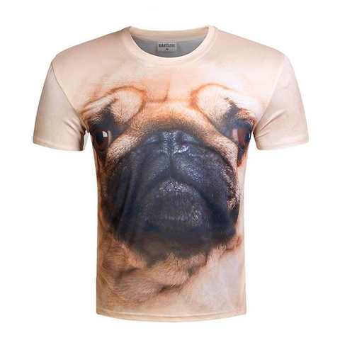 Dog Pug 3D T-shirt Men's Summer Fun - Men T-Shirt - Youngerfan