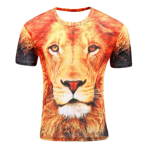 Men Fashion 3D Animal Creative T-Shirts