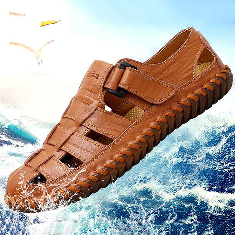 Leisure Beach Genuine Leather Men's Sandals
