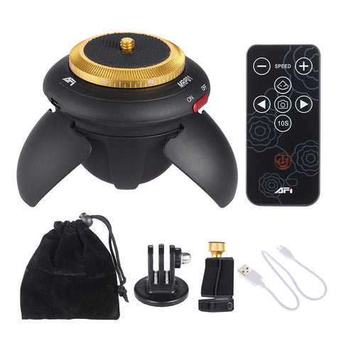 MRP01 Mini Electric Panorama Head 360 Rotation Time Lapse Tripod Head for Camera - Camera - Youngerfan