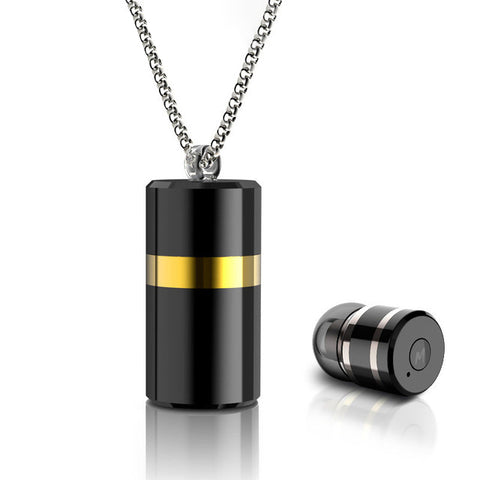 Wireless Mini Bluetooth Pendant Necklace Earphone  with Mic+Storage Box - Bluetooth Earphone - Youngerfan