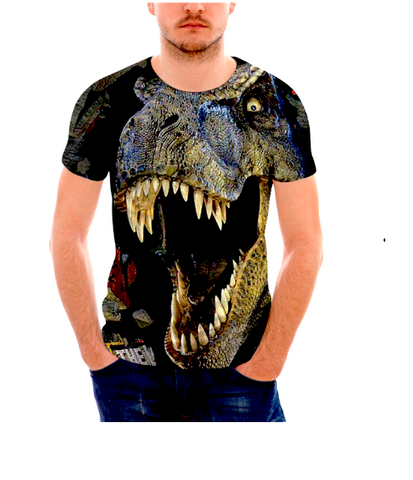 Cool 3D Dinosaur Men's T-shirt