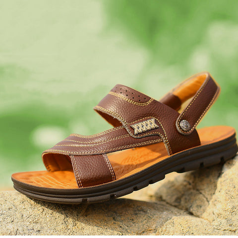 Genuine Leather Shoes Slippers Casual Sandals