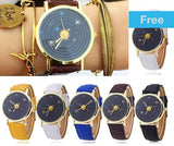 Unique Solar System Space Planets Astronomy Unisex Classy Watch Casual Quartz Leather Strap Analog Watches - Watches - Youngerfan
