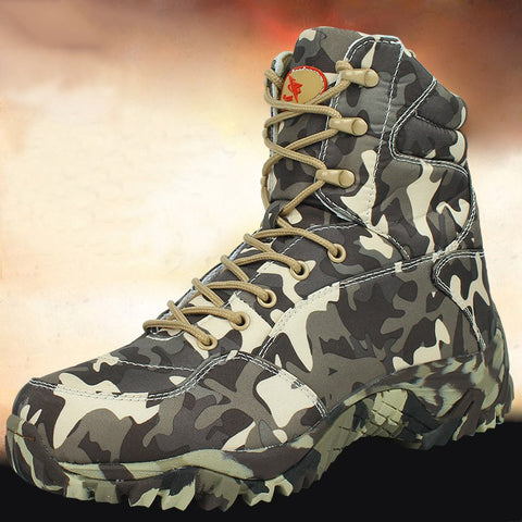 Waterproof Canvas Camouflage Combat Desert Military Boots