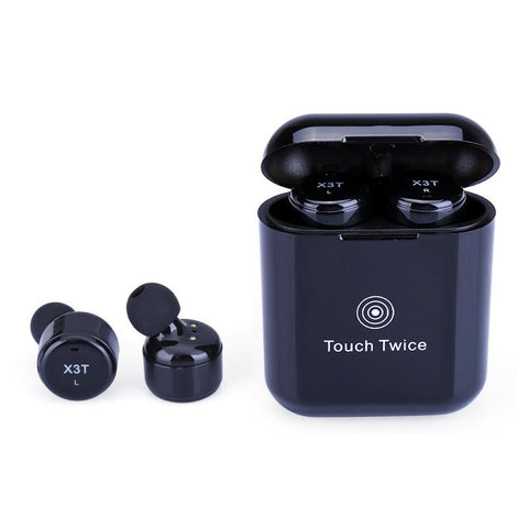 Newest X3T True Wireless Bluetooth 4.2 Headsets with Charger Box - Bluetooth Earphone - Youngerfan