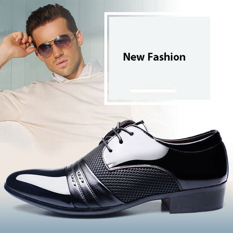 Men Dress Shoes Business Flat Shoes
