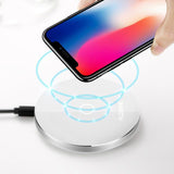 8mm QI Wireless Charger USB Charging Pad - Charger - Youngerfan