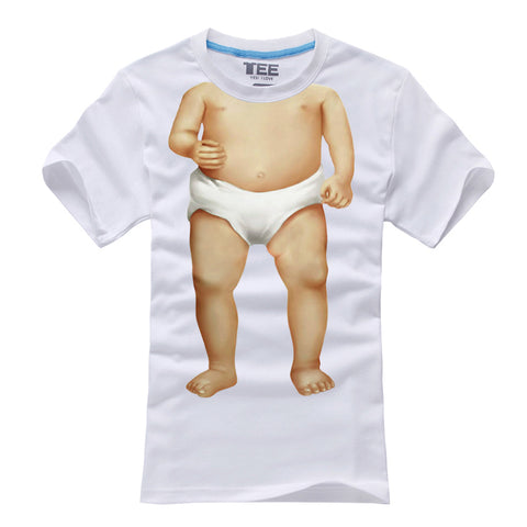 Funny Personality Short-Sleeved Cotton BABY Couple T-Shirt