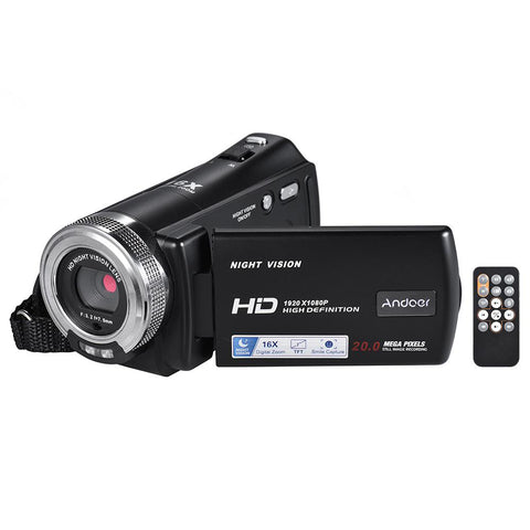 V12 1080P Video Camera Full HD Digital Zoom Recording Camcorder - Camera - Youngerfan