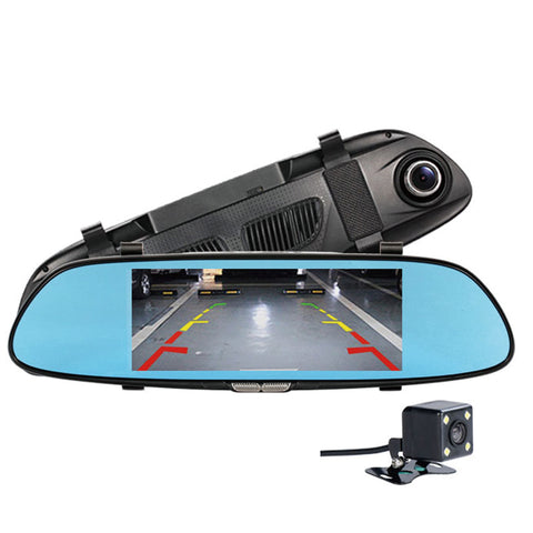 Dual Camera Lens Full HD 1080P Car Rearview Mirror - Camera - Youngerfan