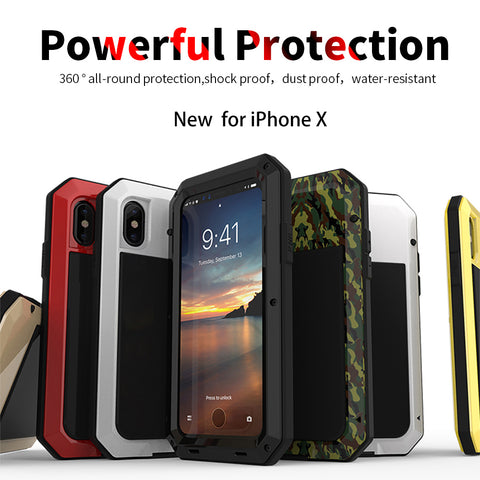 Luxury Rugged Armor Shockproof Metal Aluminum Phone Case - Phone Case - Youngerfan