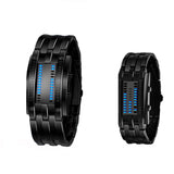 Blue Binary Luminous LED Electronic Fashion Watch - Watches - Youngerfan