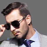 Aviator Men Polarized UV400 For Driving Original Luxury Male Sun Glasses - Glasses - Youngerfan
