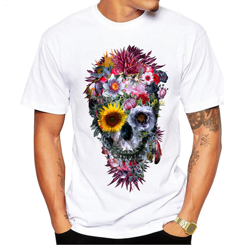 2018 Men T Shirts Fashion Voodoo Skull Design Short