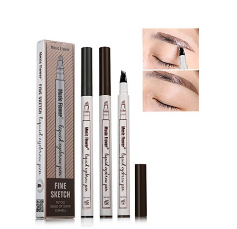 Music flower 3 color fine sketch liquid eyebrow pencil - Eyebrow pen - Youngerfan