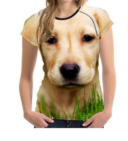 Funny 3D Labrador Retriever Female T-Shirt