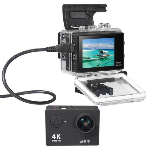 HD 4K Mini Action Camera Wifi 30m Waterproof 2.0' LCD Screen 1080P - Camera - Youngerfan