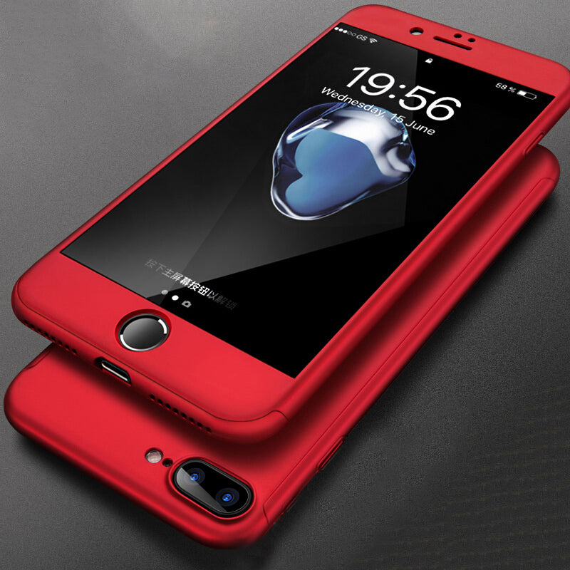 best loved 3dcb2 1653a 360° Full Cover iPhone Case with Tempered Glass