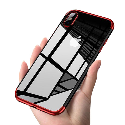 Ultra Thin Transparent Plating Shining Silicon Soft TPU Phone Case For iPhone X 8/7/6S/6 Plus - Phone Case - Youngerfan