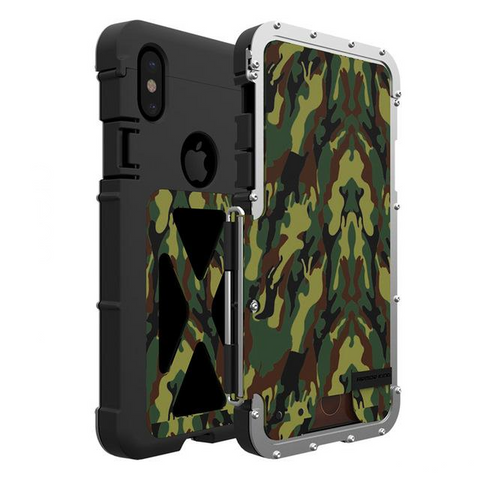 Luxury Doom Metal Armor Life Dirt Shockproof Aluminum Cover Case - Phone case - Youngerfan
