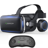 VR Glasses Helmet With Bluetooth Controller & Headphone - Virtual Reality - Youngerfan