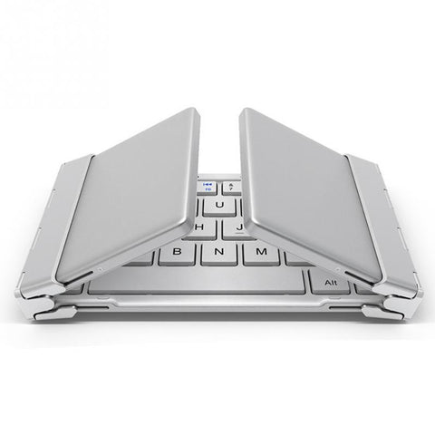 Intelligent Pocket Folding Bluetooth Keyboard with Aluminum Body - Electronics - Youngerfan