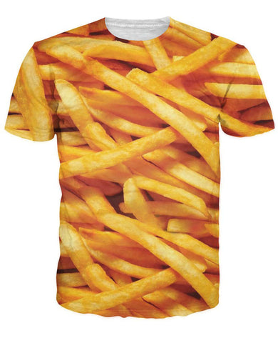 French fries female T-shirt