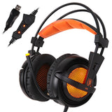 Gaming Headphones Over-Ear Noise-Isolating Breathing LED Lights Headset - Bluetooth Earphone - Youngerfan