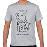 Believe me to be a DOGTOR letter Dog Print T-shirt