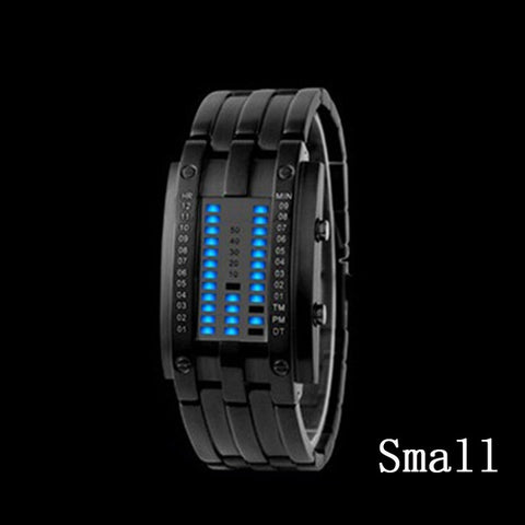 Blue Binary Luminous LED Electronic Fashion Watch - Gadgets - Youngerfan