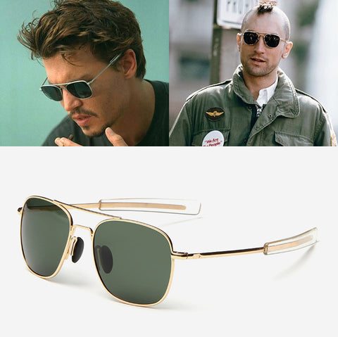 Men Army MILITARY Aviator Style Polarized Sunglasses - Glasses - Youngerfan