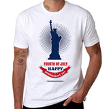 American Independence Day Print Memorial T-shirt