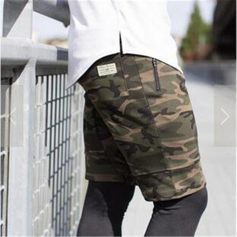 2018 Summer men's  polyester military camouflage Shorts